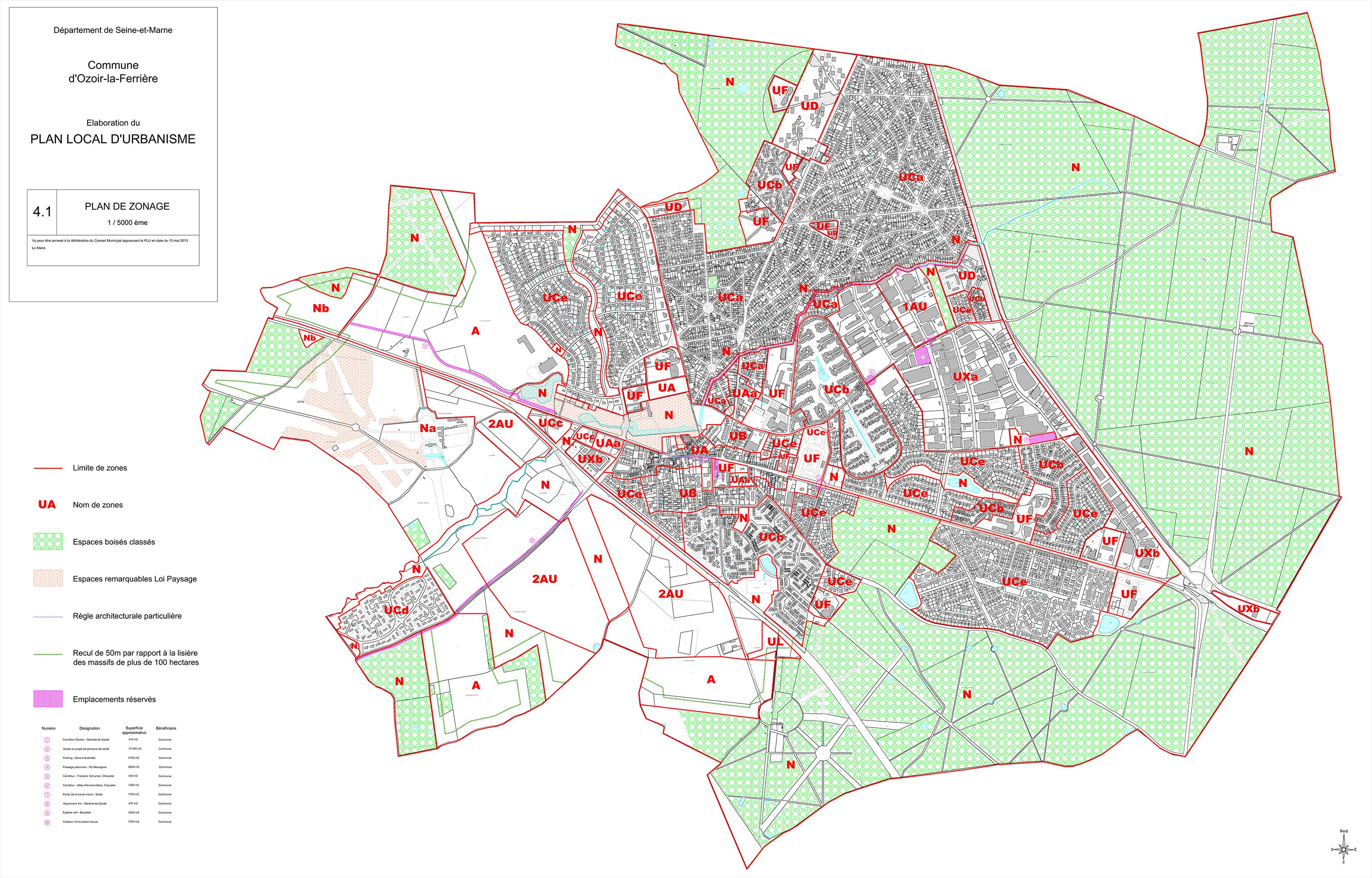 Plan De La Ville D Ozoir La Ferriere